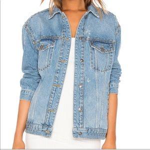 Free People Studded Jean Jacket LIKE NEW!